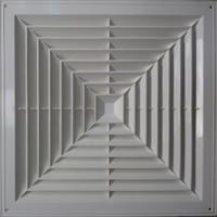 Решетка ПВХ вентиляционная диффузорного типа для потолка армстронг 595х595мм