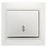 """Выключатель проходной 1-клавишный 10А белый встраиваемый (скрытая установка) Smartbuy """"Венера"""" (SBE-01w-10-SW12-0)"""