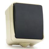 """Выключатель 1-клавишный 10А, IP 54 накладной (открытая установка) Smartbuy """"Сатурн"""" (SBE-04w-10-SW1-0)"""