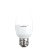 Светодиодная (LED) Лампа Е27 Свеча 5Вт 4000К Белый свет Smartbuy-C37-05W/4000/E27 (SBL-C37-05-40K-E27) Матовая колба