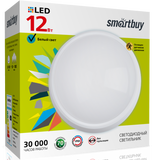 Светильник светодиодный накладной с датчиком движения IP65 12Вт 4000К Белый свет D195х46мм Круг HP Smartbuy-12W/4000K/IP65 SENSOR (SBL-HP-12W-4K-Sen)