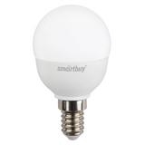 Светодиодная (LED) Лампа Е14 Шар 5Вт 4000К Белый свет Smartbuy-P45-05W/4000/E14 (SBL-P45-05-40K-E14) Матовая колба
