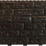"""Фасадная панель Доломит """"Скалистый Риф Люкс"""" Гавана (2000х210мм)"""