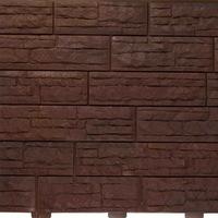 """Фасадная панель Доломит """"Скалистый Риф Премиум"""" Каштан (2000х210мм)"""