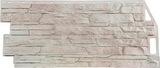 Фасадная панель FineBer Скала Мелованный Белый (1094х459мм)