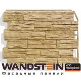 Фасадная панель Holzplast Wandstein Скол Золотой песок (795х595мм)