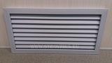 Решетка радиаторная пвх (пластиковая) горизонтальная серая 600х300мм