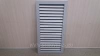 Решетка радиаторная ПВХ 300х600мм Серая вертикальная
