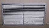 Решетка радиаторная пвх (пластиковая) горизонтальная серая 1200х600мм