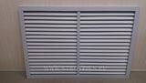 Решетка радиаторная пвх (пластиковая) горизонтальная серая 900х600мм