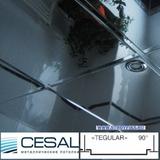 Металлический кассетный потолок с кассетой Cesal K90 Tegular 90° А08 Хром Люкс 595х595мм