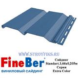 Сайдинг FineBer Standart Синий 3,66х0,205м