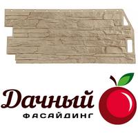 Фасадная панель Фасайдинг Дачный (Fineber) Скала Бежевый (1094х452мм)