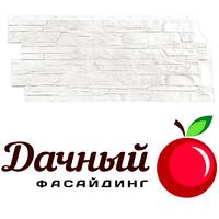 Фасадная панель Фасайдинг Дачный (Fineber) Скала Белый (1094х452мм)