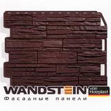 Фасадная панель Holzplast Wandstein Скол Темно-коричневый (795х595мм)