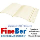 Блок хаус (BlockHouse) FineBer Слоновая кость 3,66х0,232м