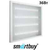 Светильник светодиодный Армстронг Smartbuy SBL-uni-36W-45K универсальный 595х595х19мм Призма 36вт 4500К Белый свет с Эпра