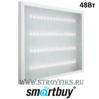 Smartbuy SBL-uni-48W-45K Светильник светодиодный офисный Армстронг Призма 595х595х19мм 48вт 4500К Белый свет с LED-драйвером. (Универсальный встраиваемый / накладной)
