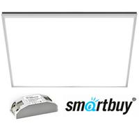 Панель светодиодная Армстронг Smartbuy SBL-P-40W-65K (64К) ультратонкая 595х595х10мм 40Вт Опал 6500К Холодный свет с Эпра