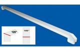 Соединитель ПВХ на стык 120° и 180° Белый 60см (600мм) к подоконнику Danke