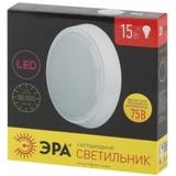 Светильник светодиодный накладной круглый Эра SPB-3-15-4K Круг матовый IP20 D250х51мм 15Вт 1200Лм 4000К Белый свет