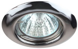 Светильник Эра ST3 CH Хром точечный встраиваемый штампованный MR16, GU5.3, 12V/220V, 50W, D=80 (Сталь)