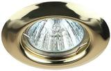 Светильник Эра ST3 GD Золото точечный встраиваемый штампованный MR16, GU5.3, 12V/220V, 50W, D=80 (Сталь)