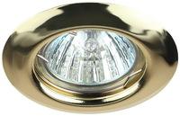 Светильник Эра ST3 GD Золото точечный встраиваемый MR16, GU5.3, 12V/220V, 50W, D=80мм (Сталь)
