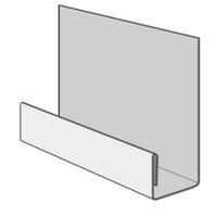 Стартовая планка металлическая 2 метра для фасадных панелей (цокольного сайдинга)
