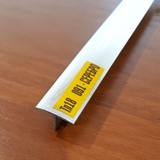 Тавр (Т-профиль) ПВХ Идеал 18х10мм Серебро / Хром, металлизированный (длина-2,7м)