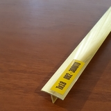 Тавр (Т-профиль) ПВХ Идеал 18х10мм Золото, металлизированный (длина-2,7м)