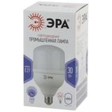 Светодиодная (LED) Лампа промышленная Е27 Колокол 30Вт 2400Лм 6500К Холодный свет Эра LED POWER T100-30W-6500-E27 Матовая колба
