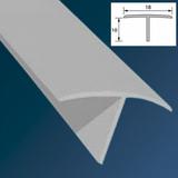 Тавр (Т-профиль) ПВХ 18х10мм Белый 2,7 метра
