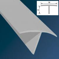 Тавр (Т-профиль) ПВХ Идеал 18х10мм Белый (длина-2,7м)