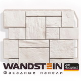 Фасадная панель Holzplast Wandstein Туф Белый (795х595мм)