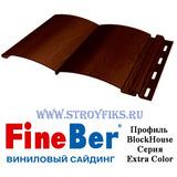Блок хаус (BlockHouse) FineBer Темный Дуб 3,66х0,232м