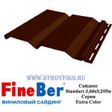 Сайдинг FineBer Standart Темный Дуб 3,66х0,205м
