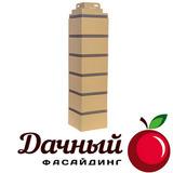 Угол наружный Фасайдинг Дачный (Fineber) Кирпич клинкерный Желтый