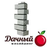 Угол наружный Фасайдинг Дачный (Fineber) Русская крепость, Белый
