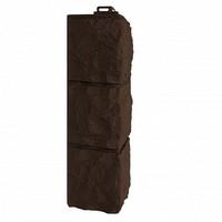 Угол наружный Фасайдинг Дачный (Fineber) Доломит Темно-коричневый
