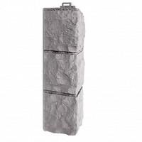 Угол наружный Фасайдинг Дачный (Fineber) Доломит Светло-серый