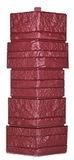 Угол цокольный т-сайдинг альпийская скала (сказка) красная 3009 техоснастка