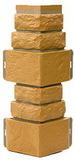 Угол цокольный т-сайдинг дикий камень бежевый 1011 техоснастка
