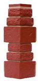 Угол цокольный т-сайдинг дикий камень бордовый (красный) 3009 техоснастка
