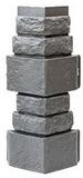 Угол цокольный т-сайдинг дикий камень серый 7037 техоснастка