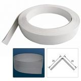 Уголок ПВХ 25х25мм Универсальный гибкий Белый (рулон - 25 м, на отрез)