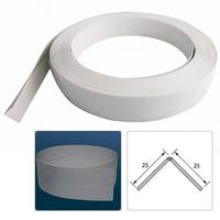 Уголок ПВХ Идеал 25х25мм Универсальный гибкий Белый (рулон - 100 м, на отрез)