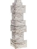 Угол наружный FineBer Камень дикий Мелованный Белый