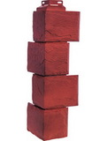 Угол наружный цокольный fineber камень природный красно-коричневый