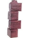Угол наружный цокольный fineber камень природный серо-коричневый
